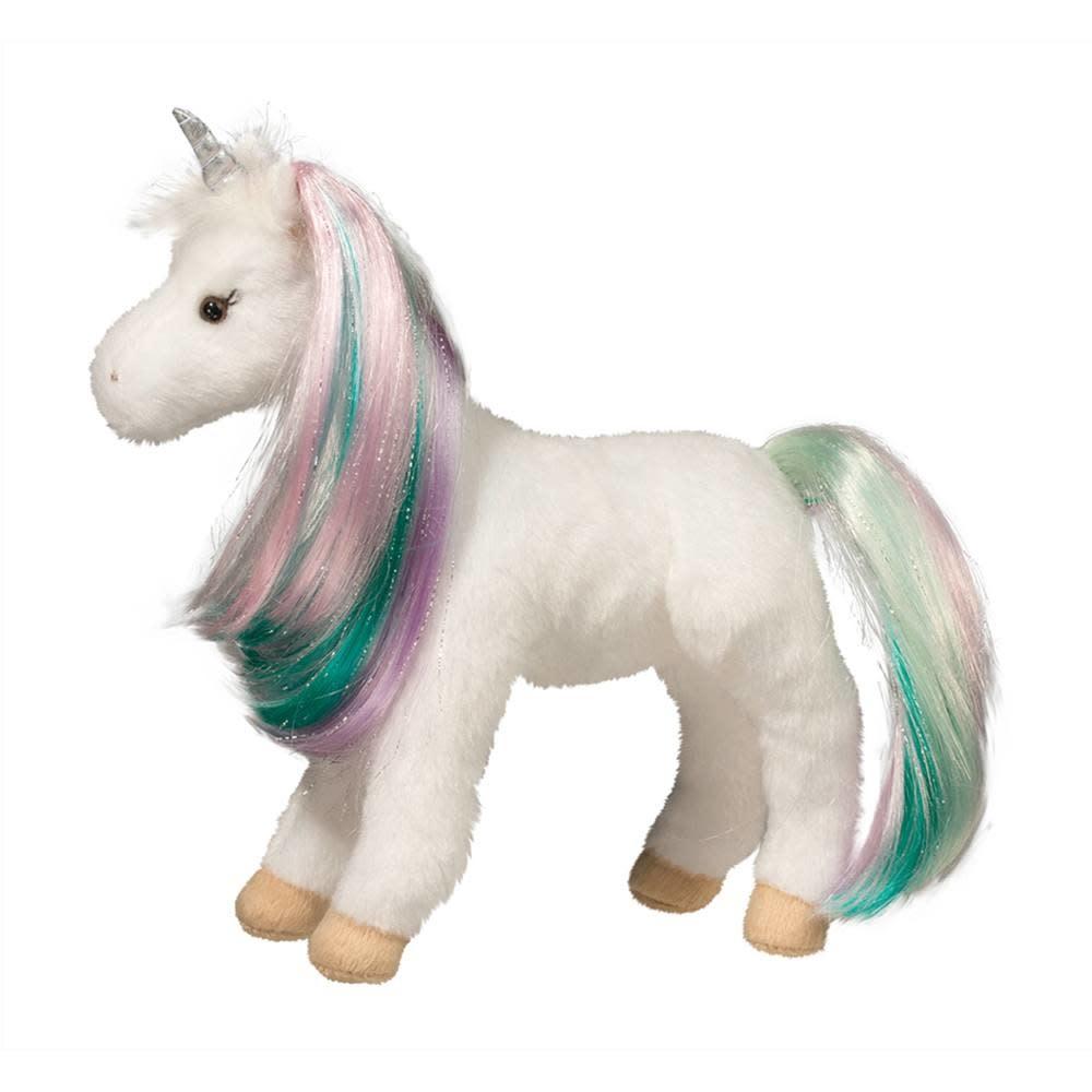 Douglas Toys Jules Princess White Unicorn