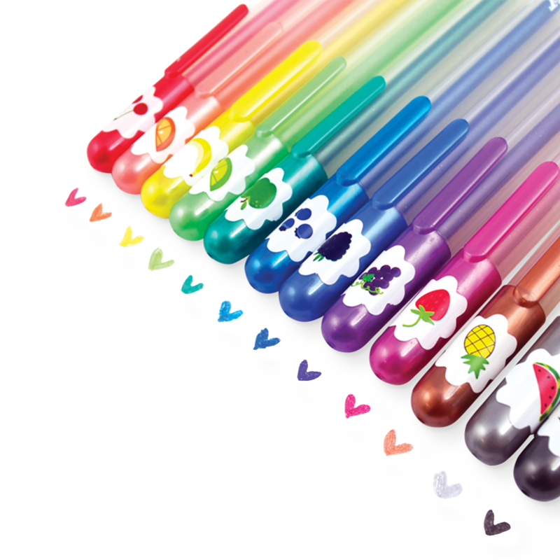 Ooly Yummy Yummy Scented Colored Glitter Gel Pens - Set of 12