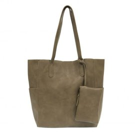 Joy Accessories Bella Vegan Leather Tote (with Bonus Bag)