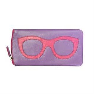 Intercontinental Leathern Industries ILI Leather Eyeglass w/GLASSES Case incV