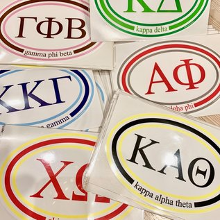 Sorority Oval Sticker