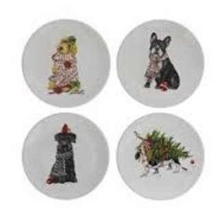 Creative Co-Op 5in Ceramic Plate w/Dog, 4 styles
