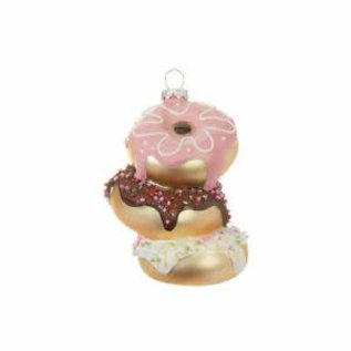 RAZ ORN Donut Stack Glass