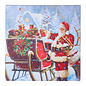 "RAZ Santa w/Presents Lighted Print - 20"""