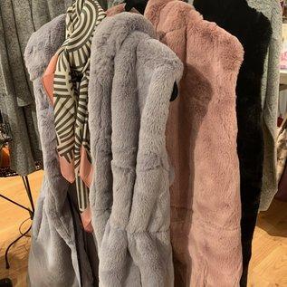 Accessorizit Luxurious Faux Fur Hoodie Vest