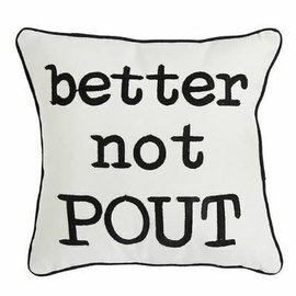 RAZ Better Not Pout Pillow 18""