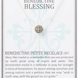 My Saint My Hero Benedictine Petite Necklace