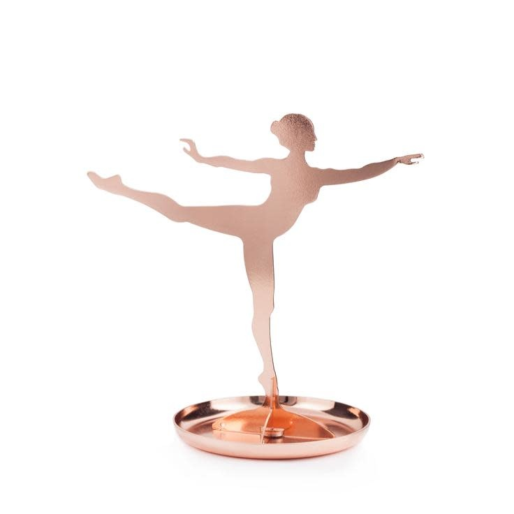 Kikkerland Ballerina Jewelry Stand Copper