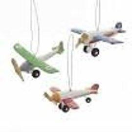 Kurt Adler ORN Wooden Piper Plane