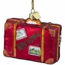 Kurt Adler ORN Bon Voyage Suitcase