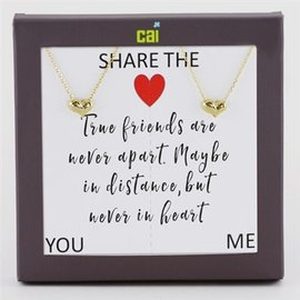 Cool and Interesting You & Me S/2 Necklaces (Brass)