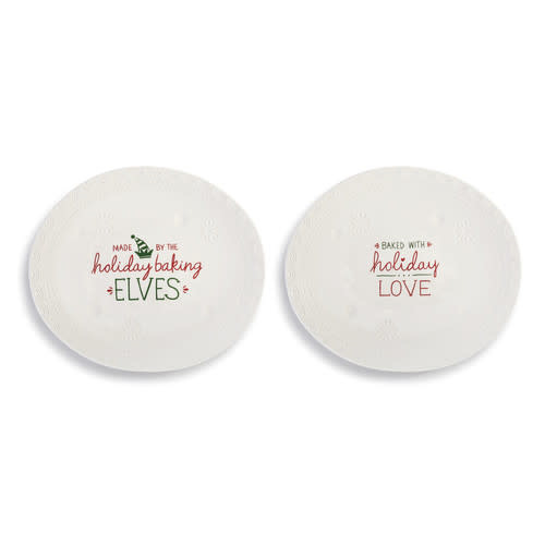 Demdaco Holiday Plate 2 Ast 9.5x8in
