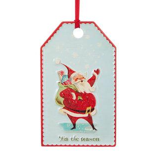 "RAZ ORN Santa Tag 12"""
