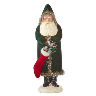 RAZ Santa w/Stocking 13in