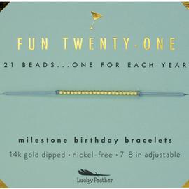 Lucky Feather Bracelet Birthday