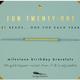 Lucky Feather BR Milestone Birthday