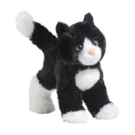 Douglas Toys Snippy Black/White Cat