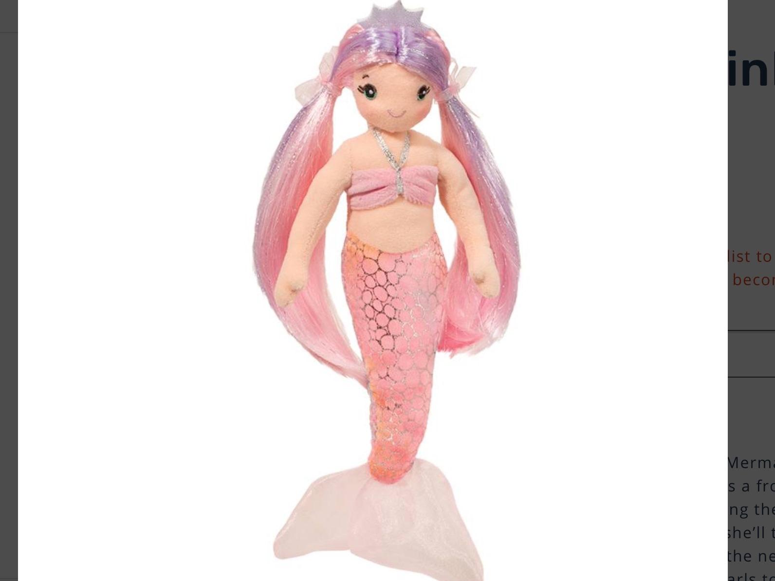 Douglas Toys Serena Pink Mermaid