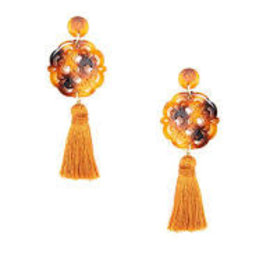 Zenzii Allure Pendant Drop w/Tassel Earrings