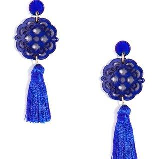 Zenzii Allure Pendant Drop w/Tassel Earrings