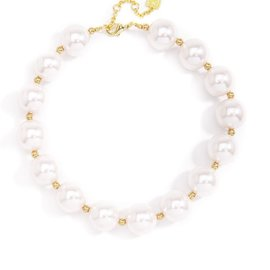 Zenzii Sweetheart Pearl Oversized Necklace