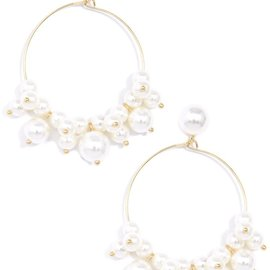 Zenzii Swept Away Pearl Drop Earrings