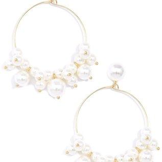 Zenzii Swept Away Pearl Drop Earrings