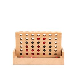 Kikkerland 4 In a Row Classic Mini Wooden Game