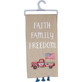 Primitives by Kathy Dish Towel - Faith Freedom
