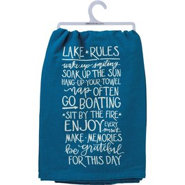 Primitives by Kathy Dish Towel - Lake Rules