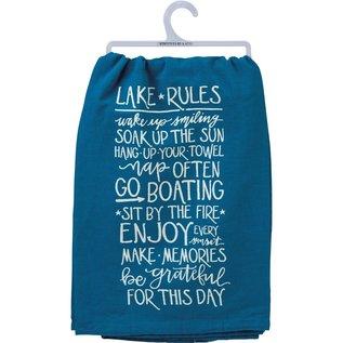 Primitives by Kathy Dish Towel - Lake Rules