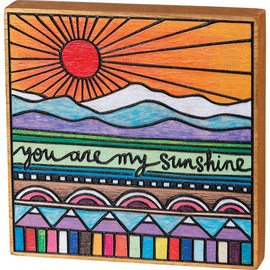 """Primitives by Kathy You Are My Sunshine 6x6x1"""", Block Sign"""