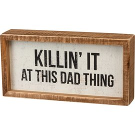 Primitives by Kathy Inset Box Sign - Dad Thing 8x4""