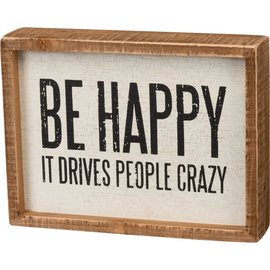 Primitives by Kathy Inset Box Sign - People Crazy 8x6