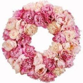 "Winward International Pink Peony Wreath 24"""