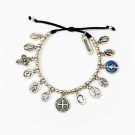 My Saint My Hero BR Glory, Saints & Angels Bracelet Silver, Black
