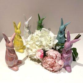 "Iridescent Stoneware 7"" Bunny"