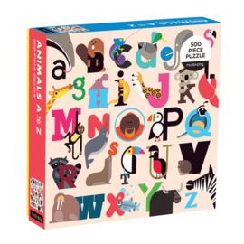 Mudpuppy 500 Animals A-Z Puzzle (500 pc)