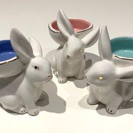 180 Degrees Ceramic Bunny T-Light Holder (set/3)