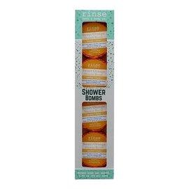 Rinse Bath & Body 4 Pack Shower Bomb Box- Sweet Orange