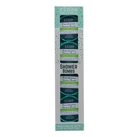 Rinse Bath & Body 4 Pack Shower Bomb Box- Eucalyptus