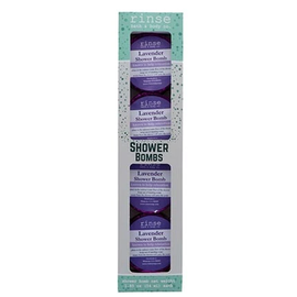 Rinse Bath & Body 4 Pack Shower Bomb Box- Lavender