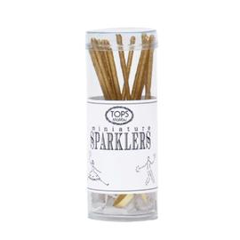 "TOPS Malibu Mini Gold Sparklers in Tube 4"" (includes 16 sticks)"