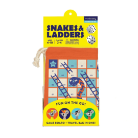 Mudpuppy Travel Game Snakes & Ladders (age 3+)
