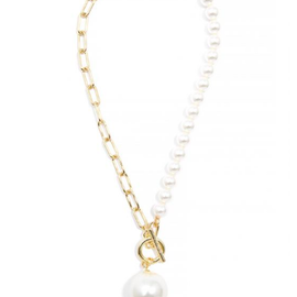 Zenzii Best of Both Worlds Pearl Necklace