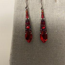 Firefly Red Gazelle Earrings