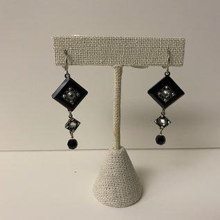 Firefly La Dolce Vita Opera Black/White Earrings