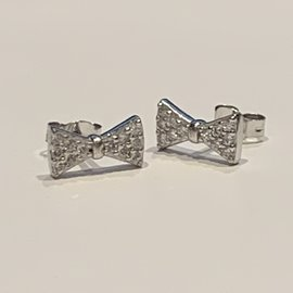 Pave Bow Tie Earring