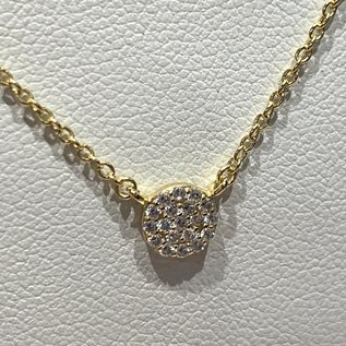 Pave Dot Necklace 5mm