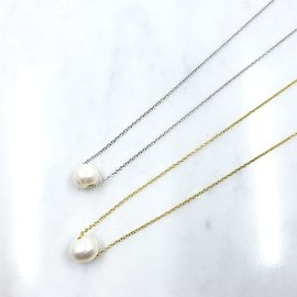 Floating FW Pearl on Chain